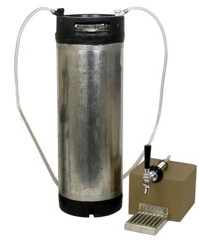Refrigerator Cornelius Keg system without CO2 tank - Ball Lock Keg by Strange Brew (Image #1)