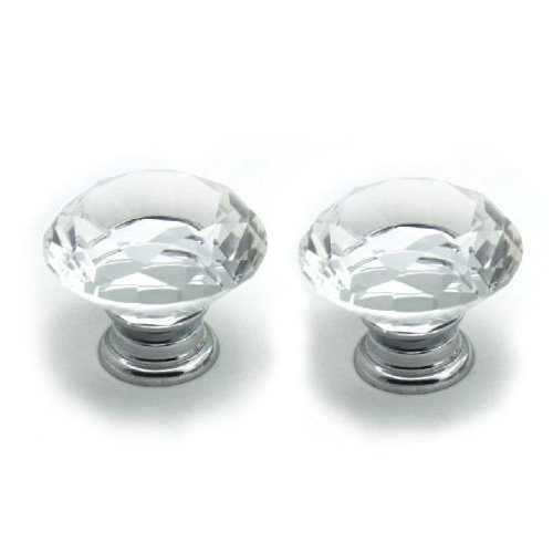 temax-clear-crystal-zinc-alloy-cabinet-drawer-dandle-knob-pull-pack-of-2