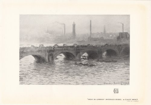 - Pont De Londres - Waterloo Bridge - 1908 Print