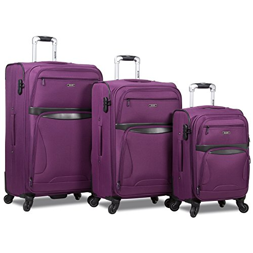 Rolite Explorer 3-Piece Expandable Spinner Luggage Set, Purple by Rolite