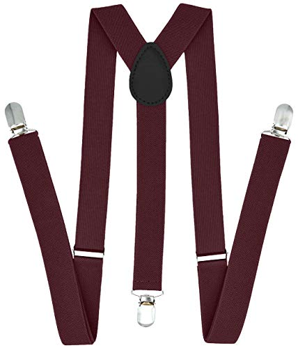 Trilece Suspenders for Men - Adjustable Elastic Y Back Style Suspender - Strong Clips -