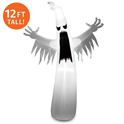 Joiedomi 12 Foot Tall Halloween Inflatable Blow Up Towering Spooky Ghost for Halloween Decoration (12 ft ()