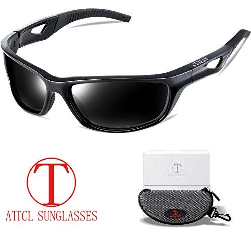 53e52e08e347d ATTCL Mens Sports Polarized Sunglasses Sports Glasses for Men Cycling  Driving Golf 306 Black