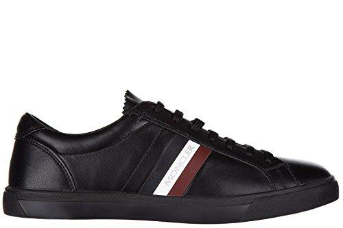 Moncler Scarpe Da Uomo Scarpe Da Uomo In Pelle Sneakers La Monaco Black