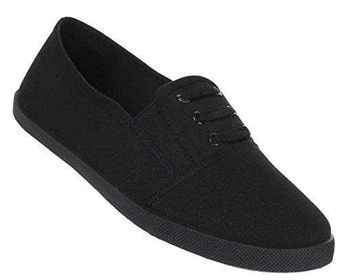 Damen Schuhe y1904 Slipper Schwarz 37