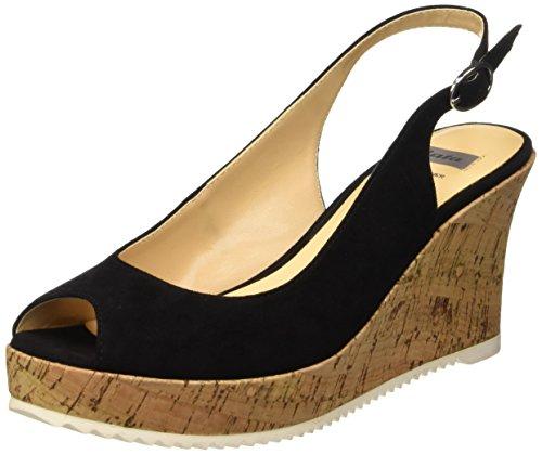 Tacón Zapatos para BATA de Negro 7696521 Nero Mujer CqxZntpR5w