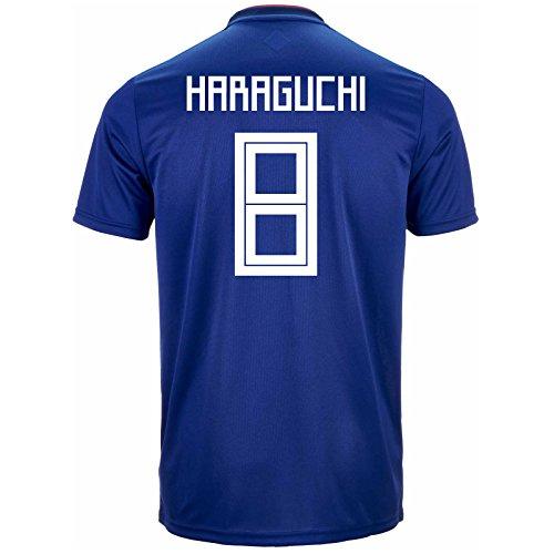 adidas HARAGUCHI # 8 Japan Home Soccer Stadium Men's Jersey World Cup Russia 2018 (2XL)