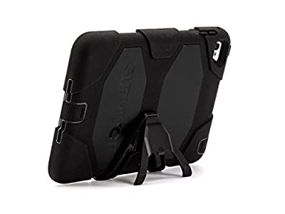 Griffin iPad mini 4 Case with Stand, Black Survivor All-Terrain, [Rugged] [Protective] [Dual Layer] [Heavy Duty] [Shock Absorption] [Polycarbonate] [Silicone] from Griffin Technology