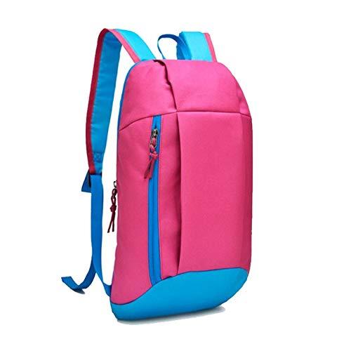 Zozu Aelicy Hiking Rucksack Women Outdoor Sports Backpack Men Travel Satchel hit color double Shoulder Bag Students Oxford School Bag (HT)