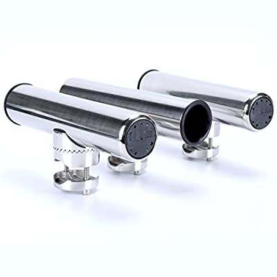 """Amarine-made 4pcs Stainless Clamp on Fishing Rod Holder for Rails 7/8"""" to 1"""""""