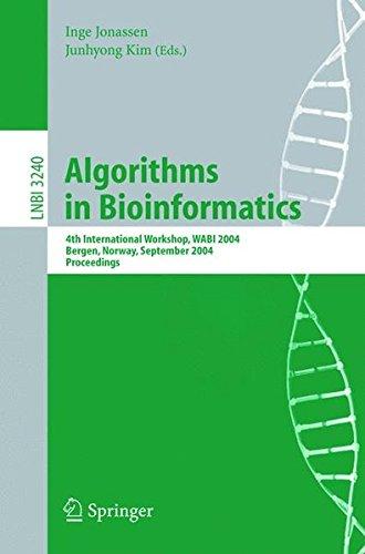 Algorithms in Bioinformatics: 4th International Workshop, WABI 2004, Bergen, Norway, September 17-21, 2004, Proceedings (Lecture Notes in Computer Science) by Inge Jonassen