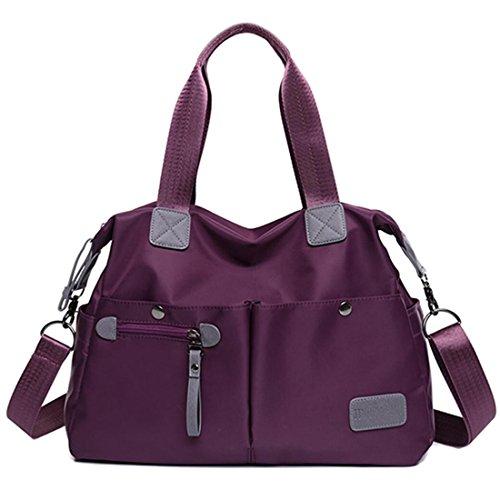 YouNuo Womens Top Handle Handbag Nylon Laptop Crossbody Bag Water Resistant Tote Shoulder Bags