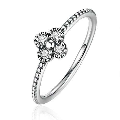 PSRINGS Arrival 925 Sterling Silver Blossom Finger Rings With Clear Fine Jewelry - Blossom Mall Orange