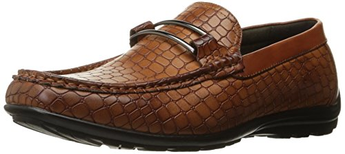 Adams on Men's Loafer Moc Bit Cognac Slip Toe Lanzo Stacy qw0dxSpq