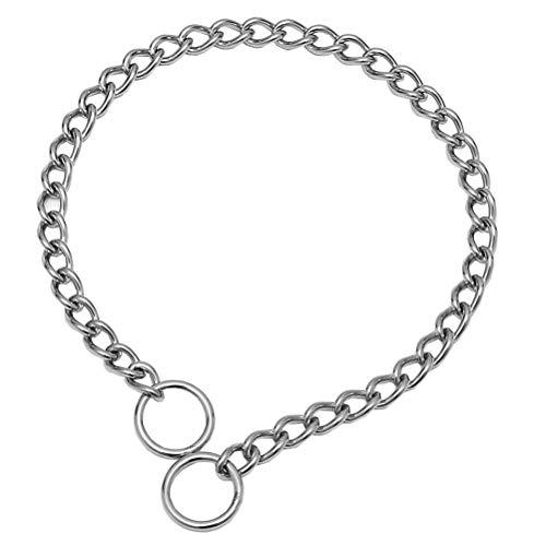 SGODA Chain Dog Training Choke Collar, 304 Stainless Steel