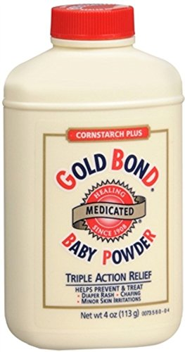 Gold Bond Gold Bond Medicated Baby Powder Cornstarch Plus, 4 oz (Pack of 2) CHATTEM INC