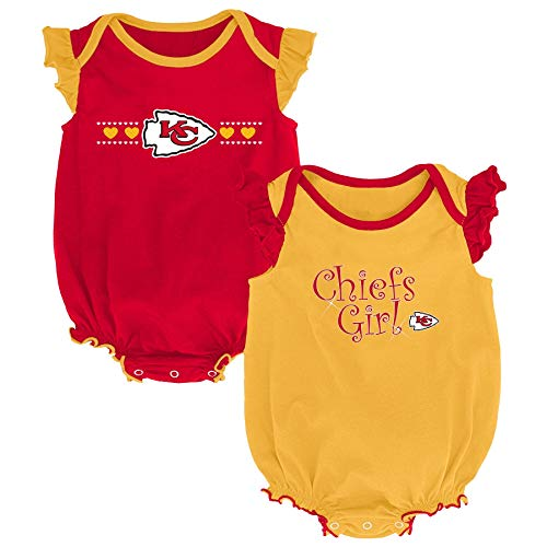 Outerstuff NFL NFL Kansas City Chiefs Newborn & Infant Homecoming Bodysuit Combo Pack Red, 3-6 Months ()