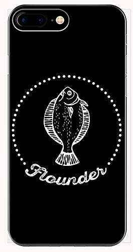 - Funny Flounder - Ocean Fishing Sport - Seafood Meal Humor - Phone Case for iPhone 6+, 6S+, 7+, 8+