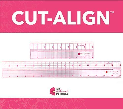 Cut-Align Precision Slotted Rulers (Set of 2 Rulers) for Card Making, Sewing and Other Crafting; from The Designer of The Misti and Creative Corners; Perfect Companion for Your Craft -