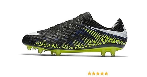 a95487851162 Nike Men's HyperVenom Phinish FG Soccer Cleat (Sz. 10) Black, Volt,  Paramount Blue