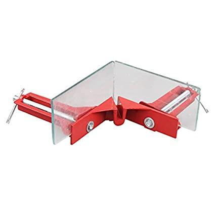 Magideal Aluminum 90 Degree Right Angle Picture Frame Corner Clamp Holder (Red)