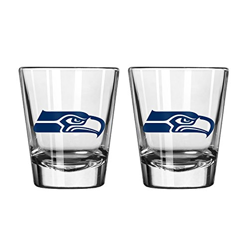 NFL Seattle Seahawks Game Day Shot Glass, 2-ounce, (Seahawks Wine Glasses)