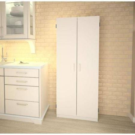 Double Pantry | White | Concealed Storage Behind Two Doors by Generic.