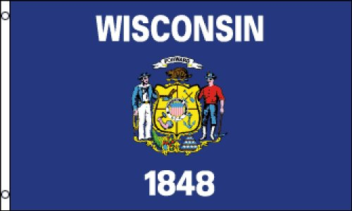 Wisconsin State 3x5 ft polyester Flag
