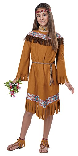 [California Costumes Classic Indian Girl Child Costume, Medium] (Red Indian Costume Girl)
