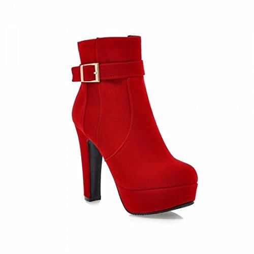 Con Opaco Ultra Rff Tacco Alto womens Rosso 36 Matrimonio Rosso Fine Stivali Scarpe Martin cqFYWqI