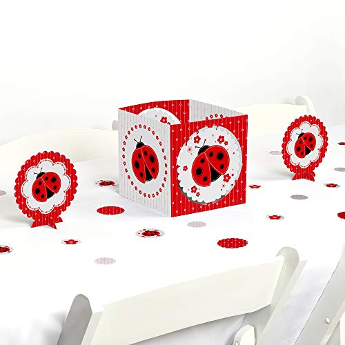 Big Dot of Happiness Modern Ladybug - Baby Shower or Birthday Party Centerpiece & Table Decoration -