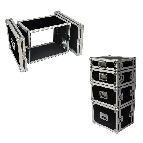 6 Space 6u 12 Inches Deep Heavy Duty 3/8 Ply ATA Amp Rack Case - Closeout by Roadie Products, Inc.
