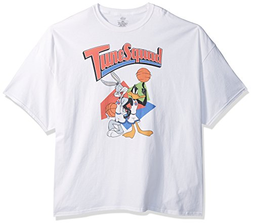 Warner Brothers Big and Tall Men's Retro Tune Squad Space Jam T-Shirt, White, -