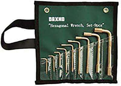 防爆工具 安全工具 六角棒レンチセット RBHX-9S 9本組 1.5・2・2.5・3・4・5・6・8・10mm 無発火性 非磁性 バックスノ アミ 代不