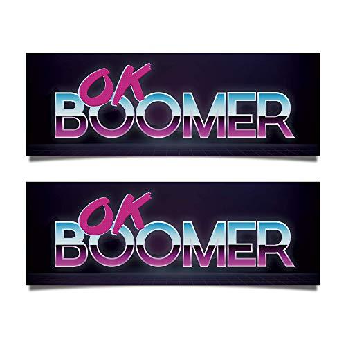 [해외]Blue Moon Graphics 2 Pack Ok Boomer Bumper Sticker Vinyl / Blue Moon Graphics 2 Pack Ok Boomer Bumper Sticker Vinyl