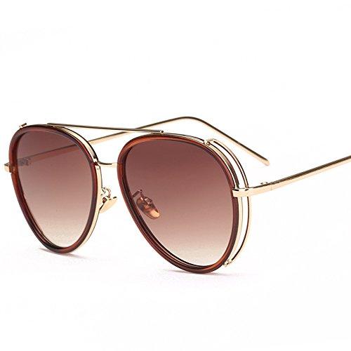 Visera Moda para Moda Mujer Espejo De Viaje Gafas De Retrovisor Exteriores B Personalidad Ritmo De Sol Hombres Gafas Playa C Calle Sol Gafas HHSZx
