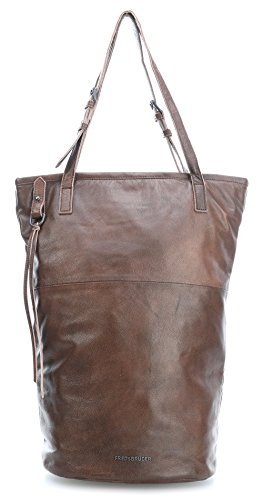 FredsBruder Highway Traveler Borsa tote marrone scuro