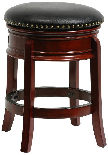 Bar Stool Swivel Hamilton - Boraam 43924 Hamilton Swivel Stool, 24-Inch, Cherry