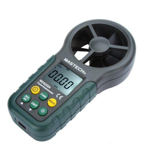 KKmoon Tragbar Digital Anemometer Handheld Windmesser Handwindmesser-LCD elektronische Luftvolumenmess Meter mit Hintergrundbeleuchtung