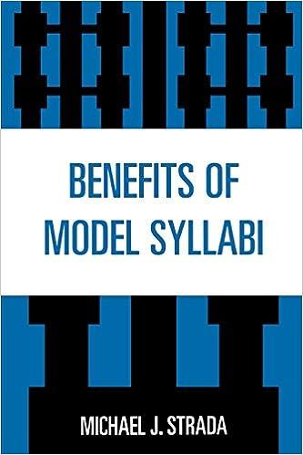 Book Benefits of Model Syllabi