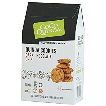 GOGO QUINOA, Ckies, Quinoa, Dbl, Chocolat, Pack of 6, Size 6.98 OZ, (Gluten Free Low Sodium Vegan Wheat Free Yeast Free)