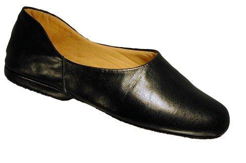 Neu Cincasa Menorca Pedro Herren Hausschuh Leder Material Bequem Pantoffeln - Schwarz, EU 45