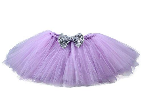 [Tutu Dreams Lavander Costume Tutu Skirts for Girls (8 for 7-8Y, Lavander)] (Handmade Candy Costumes)