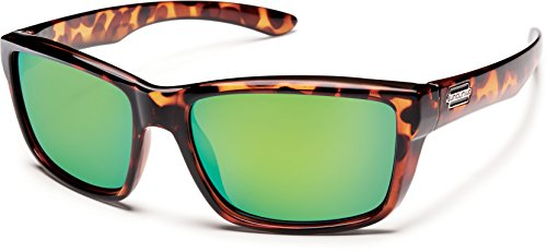 Suncloud Polarized Sunglasses Mayor in Tortoise with Green Mirror - Mayor Suncloud Sunglasses