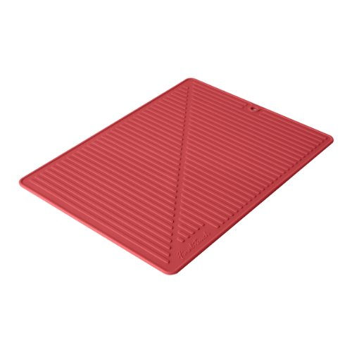 Final Touch FTA1880-9 Silicone Glass Drying Mat, Red