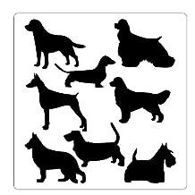 Faux Like a Pro Dog Stencil, 13.75 by 14-Inch