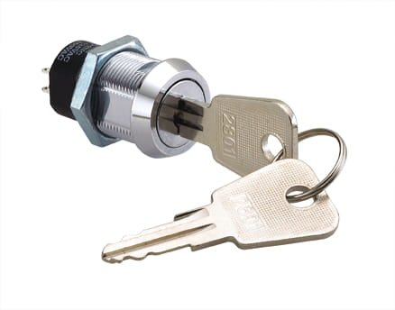 Keyed Cam Lock Electricity Powered, 37mm Comes with Two Keys, Great for Slot Machines, Arcade Machines, Electronics by Bliss Brands