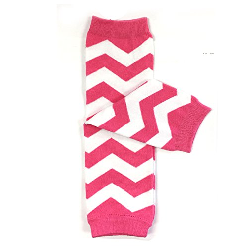 - Wrapables Colorful Baby Leg Warmers, Chevron Pink/White, One Size