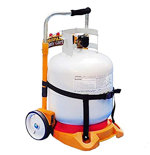 Propane Tank Carrier Cylinder Dolly Easy Cart for Tanks, Heaters, Torches and BBQ Grills (Tank Not - Carrier Propane