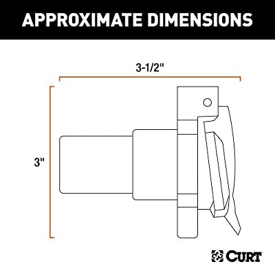 CURT 56415 Replacement Twist-Lock Vehicle-Side Custom USCAR RV Blade 7-Pin Trailer Wiring Socket: Automotive
